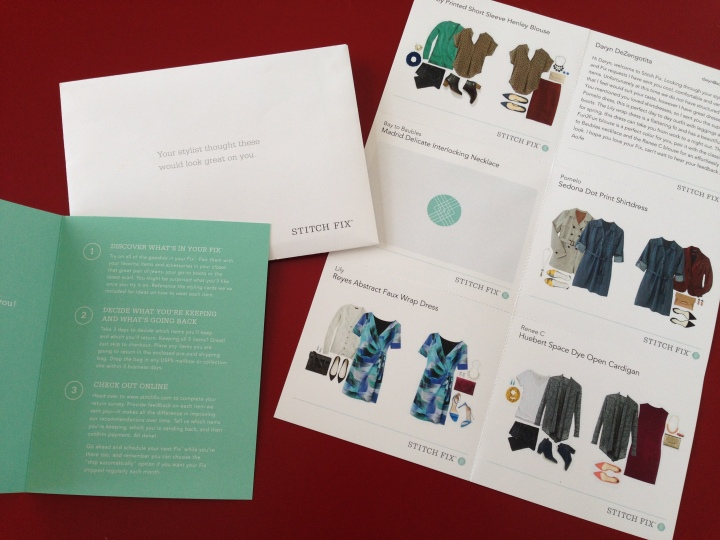 Each item came with a style card showing two ways to wear each garment. Plus a personal note from the stylist.